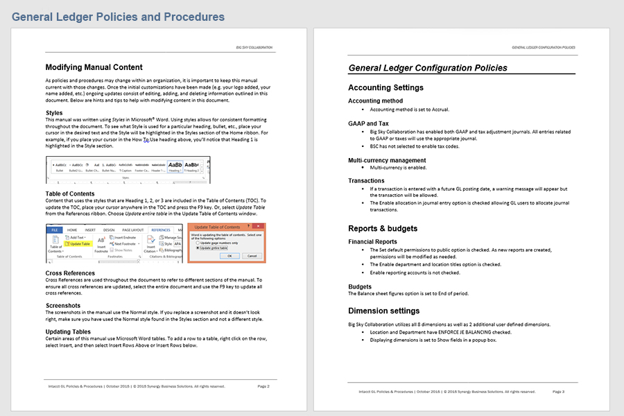 accounting policies and procedures manual download